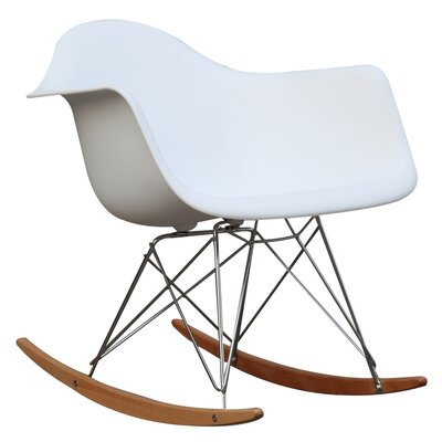 Rocker Arm Chair Color: White