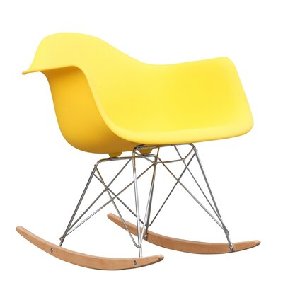 Rocker Arm Chair Finish: Yellow