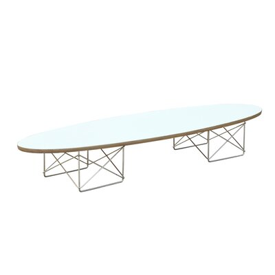 Wire Wood Coffee Table Top Color: White