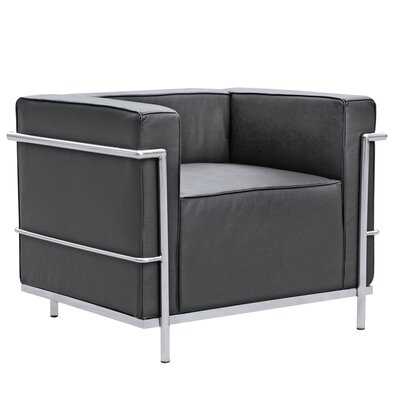 Cube Lc2 Petit Lounge Chair Color: Black