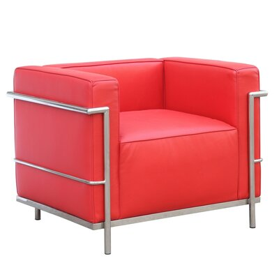Cube Lc2 Petit Barrel Chair Color: Red