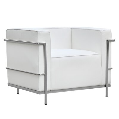 Cube Lc2 Petit Lounge Chair Color: White