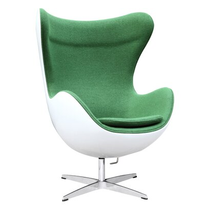 Fiesta Fiberglass Lounge Chair Upholstery: Green