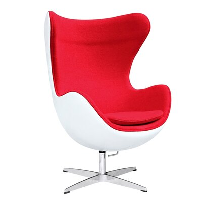 Fiesta Fiberglass Lounge Chair Upholstery: Red