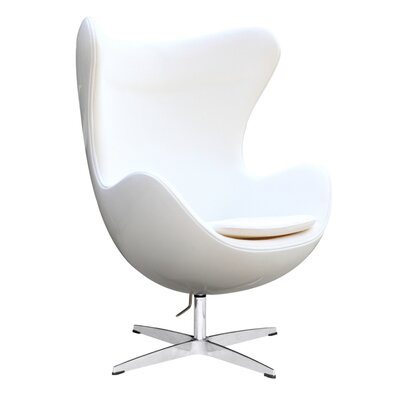 Fiesta Swivel Lounge Chair Upholstery: White