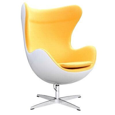 Fiesta Swivel Lounge Chair Upholstery: Yellow