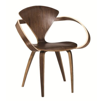 Wooden Arm Chair Color: Walnut