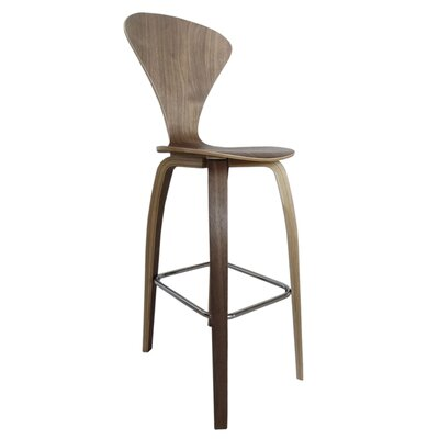 30 Bar Stool Color: Walnut