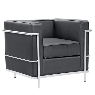 Cube Lc2 Petit Lounge Chair Upholstery: Black
