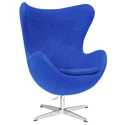 Inner Fabric Lounge Chair Color: Blue