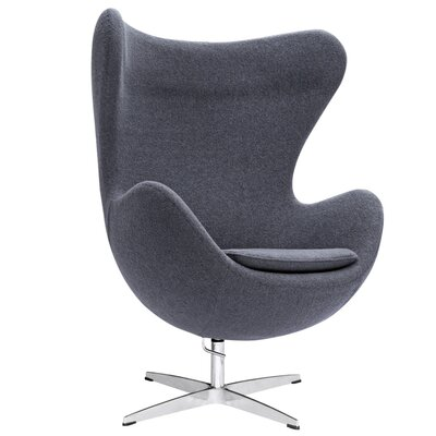 Inner Fabric Lounge Chair Upholstery: Gray