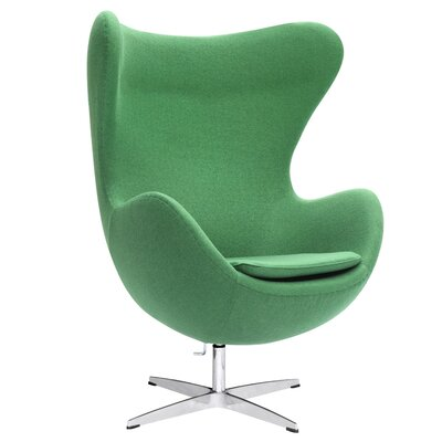 Inner Fabric Lounge Chair Color: Green