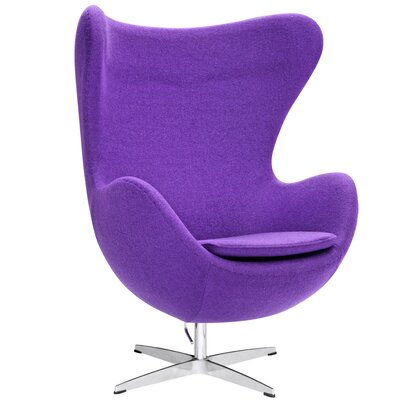 Inner Swivel Lounge Chair Upholstery: Purple