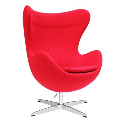 Inner Swivel Lounge Chair Upholstery: Red