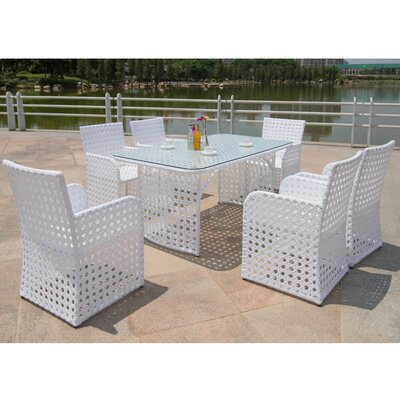 Bold 7 Piece Dining Set with Cushion