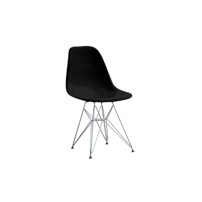Wire Leg Side Chair (Set of 2) Color: Black