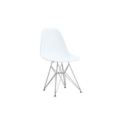 Wire Leg Side Chair (Set of 2) Color: White