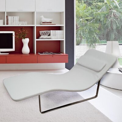 Longa Chaise Lounge Upholstery: White