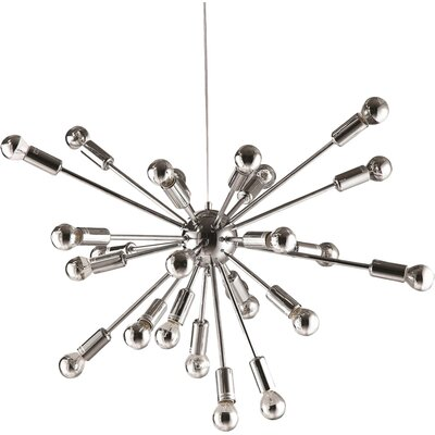 Satterfield 24-Light Sputnik Chandelier Finish: Silver
