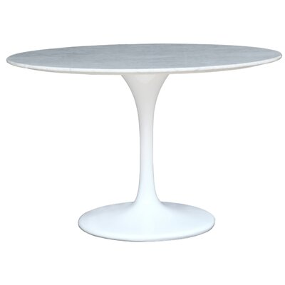 Flower Dining Table Color: White