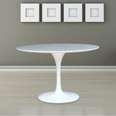 Flower Marble Table 39 Color: White