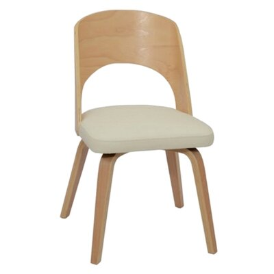 Bendino Dining Side Chair Upholstery: Gray