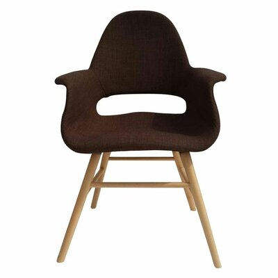 Arm Chair Upholstery: Brown