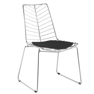Wire Leaf Side Chair Color: Black