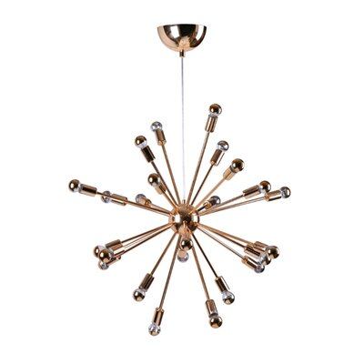 Satterfield 24-Light Sputnik Chandelier Finish: Gold