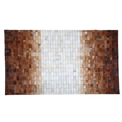 Vikram Cowhide Brown/White Area Rug Rug Size: 53 x 77