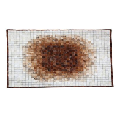 Yichuan Cowhide Brown/White Area Rug Rug Size: 53 x 77