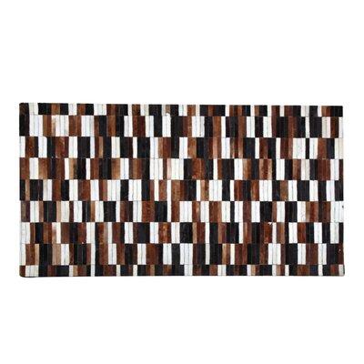 Qichen Cowhide Brown/Black Area Rug Rug Size: 53 x 77
