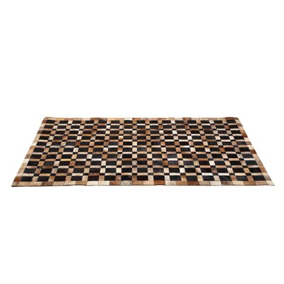 Ithaca Cowhide Bronze Area Rug Rug Size: 53 x 77