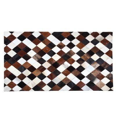 Ale Cowhide Brown/Black Area Rug Rug Size: 53 x 77