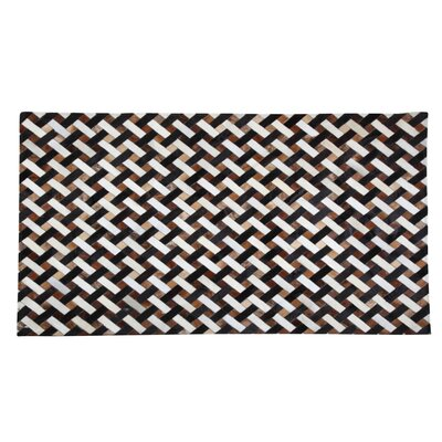 Casimir Cowhide Black/Brown Area Rug Rug Size: 53 x 77