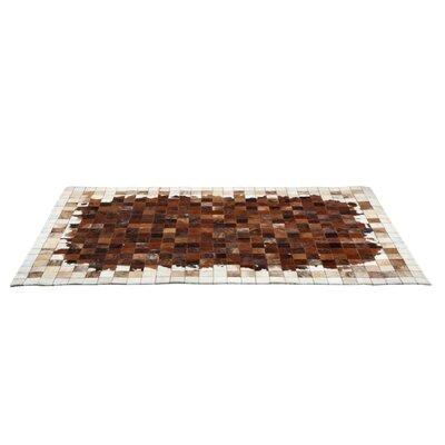 Nunn Cowhide Brown/White Area Rug Rug Size: 53 x 77