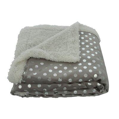 Plazatex / Sheradian Noble House Dot Sherpa Throw Blanket - Color: Gray