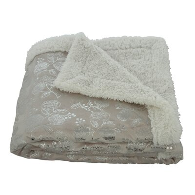 Noble House Garden Sherpa Throw Blanket Color: Beige