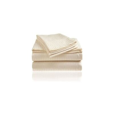 Embossed Sheet Set Size: King, Color: Ivory