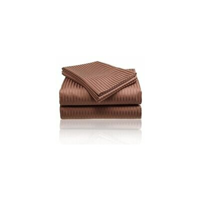 Embossed Sheet Set Size: King, Color: Chocolate