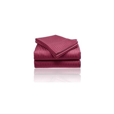 Embossed Sheet Set Size: King, Color: Burgundy