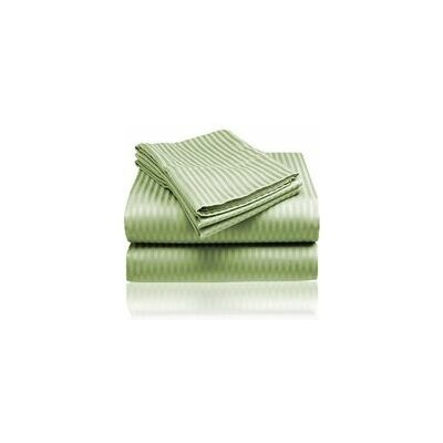 Embossed Sheet Set Size: King, Color: Sage