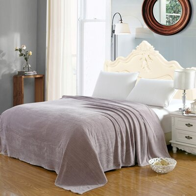 Premium Pinstripe Woven Fabric Blanket Color: Lavender, Size: Queen