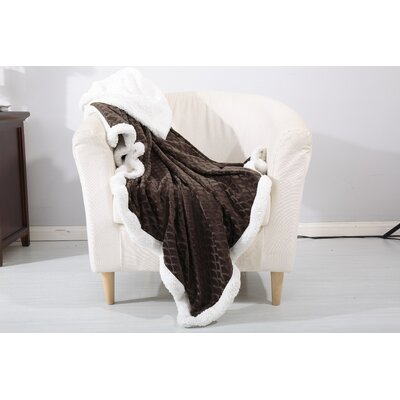 Noble House Mermaid Sherpa Throw Blanket Color: Chocolate