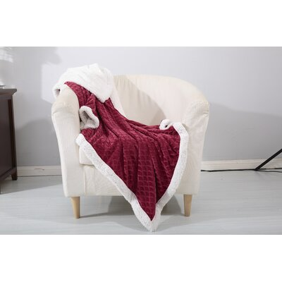Noble House Mermaid Sherpa Throw Blanket Color: Burgundy