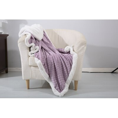 Noble House Mermaid Sherpa Throw Blanket Color: Lavender