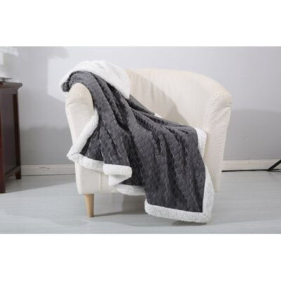 Noble House Mermaid Sherpa Throw Blanket Color: Gray