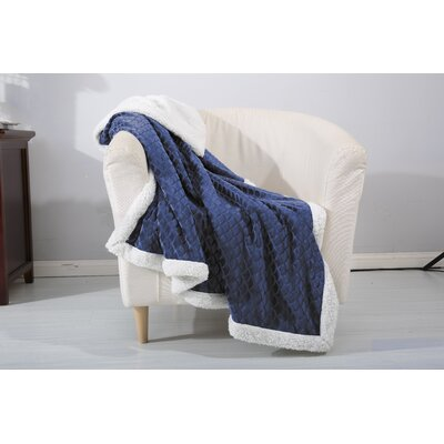 Noble House Mermaid Sherpa Throw Blanket Color: Navy
