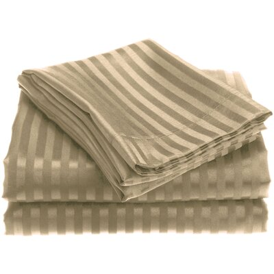 Embossed Sheet Set Size: Queen, Color: Mocha