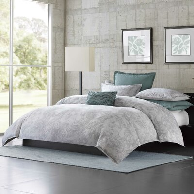 Marble 3 Piece Comforter Set Size: King